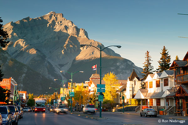 Downtown Banff in Fall