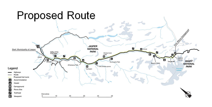 Icefields Trail Map