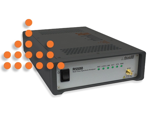 Patented software-defined radio technology makes the R5500 highly versatile