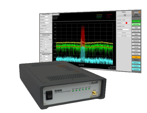 ThinkRF S240 Real-Time Spectrum Analysis Software harnesses the full power of ThinkRF hardware
