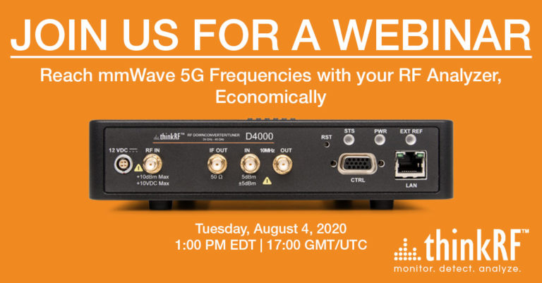 Upcoming Webinar: Reach mmWave 5G Frequencies with your RF Analyzer, Economically